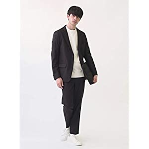 [シップスエニィ メンズ] スーツ ウールライク セットアップ ストレッチ メンズ 717100002 ブラック 黒 XS