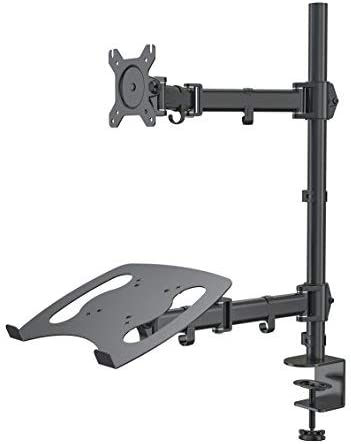 Gibbon Mounts Laptop and Monitor Mount Stand with Laptop Holder, Height Adjustable Notebook Holder,Fits up to 17