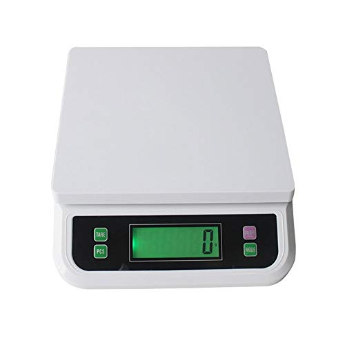 ZCXBHD Básculas electrónicas Cocina 30 kg / 1 g, báscula Digital for Alimentos Cocina casera Horneado Pesaje de Frutas Básculas multifuncionales (Color : White, Size : 20kg-1g)