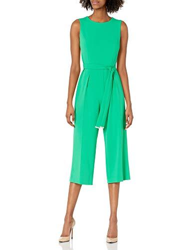 Tommy Hilfiger Damen Women's Cropped Jumpsuit Kleid, Peapod, 38