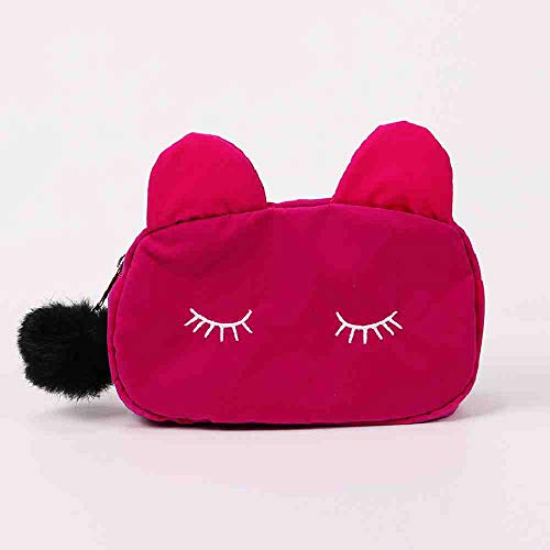 OYHBGK Cute Lady Sac À Cosmétiques Chat Hairball Zipper Pouch Voyage Trousse De Toilette Sac De Rangement Poche Femmes Voyage Maquillage Sac