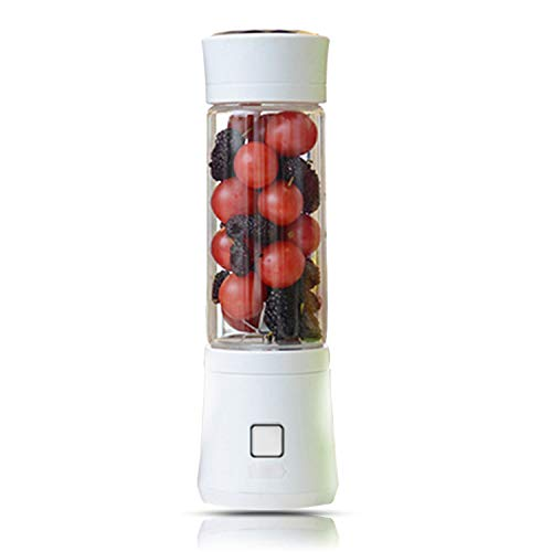 Licuadora Multifuncional, Mini Licuadora Usb De 480 Ml, Botella De Vidrio, Exprimidor, Licuadora De Frutas Portátil Para Carne, Verduras, Frutas (blanco)