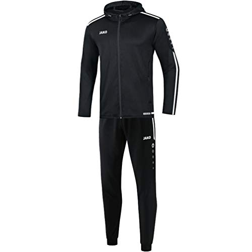JAKO Kinder Striker 2.0 mit Kapuze Trainingsanzug Polyester, schwarz/Weiß, 164