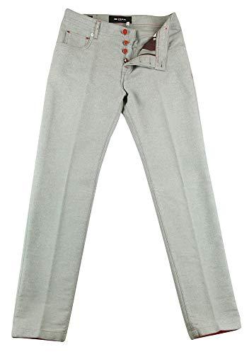 Kiton Light Gray Flannel Pants - Slim - 35/51