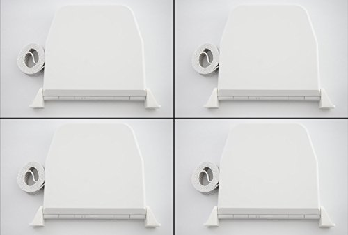 4xSelve Gurtwickler Aufputz weiss mit Scharniersystem incl. 5m Gurt f. Rolladen