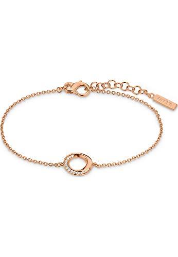 JETTE Damen-Armband 925er Silber 15 Zirkonia One Size Roségold 32013568