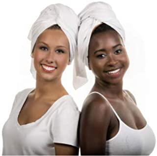 Hair RePear Ultimate Short Hair Towel–Embrace Your Straight Wavy Curly Hair with Our Premium Anti Frizz Absorbent Cotton Hair Styling Towel-Damage Free Product for Natural Hair - Small 19X39in (white)
