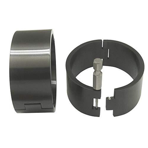 polished Brushed silver Black stainless steel wrist ankle cuffs lockable bangle slave bracelets-W 40mm Brush Black_Ankle 80mm x 70mm XL