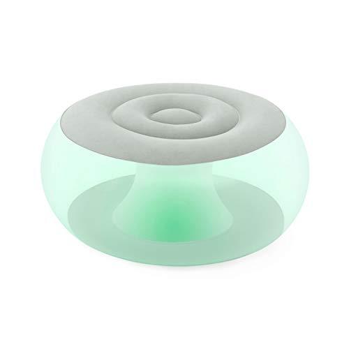 Bestway 75085 | Pouf Gonfiabile Mini Con Luce LED Integrata, 82X82X41 cm, Multicolor