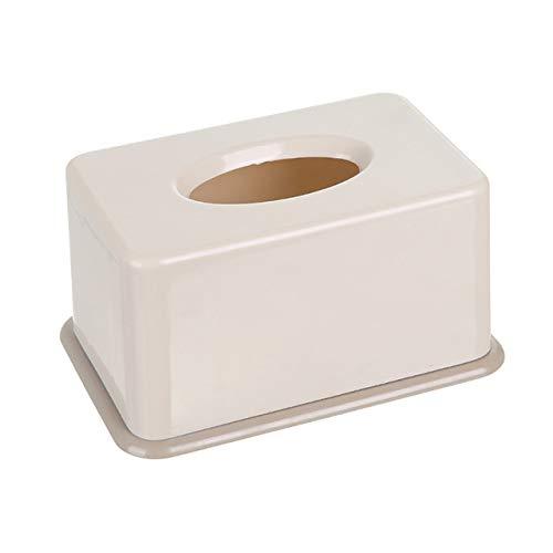 Caja de toallas de papel de plástico Baby Wipe Caja de almacenamiento de papel Dispensador de toallas de papel Home Servilletera-Beige