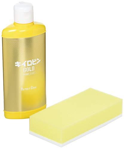 プロスタッフ 洗車用品 ガラスクリーナー キイロビン ゴールド 200g 油膜・被膜落とし 従来品の約2倍のスピードで除去 スポンジ付き A-11
