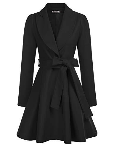 GRACE KARIN Women Trench Coat Fashion Long Sleeve Lapel Open Front Jacket Overcoat