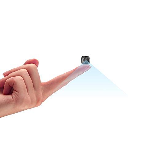 超小型ミニカメラ、1080P高解像度スパイカメラ、赤外線暗視機能付き、交換用バッテリー付きで携帯しやすい ケーブルなしでも長時間録画録音することができます 室内外ともに適用する隠し型ミニカメラ (black)