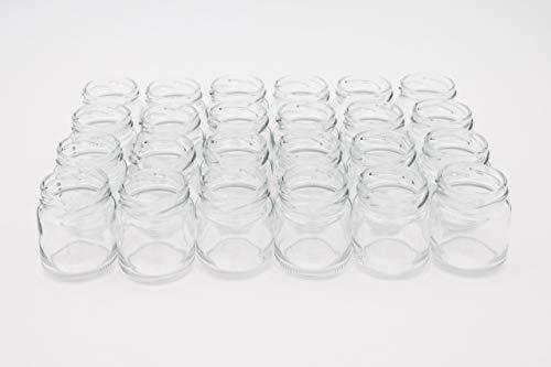 24 leere Einmachgläser klein 53 ml weiß Twist off Deckel 43mm Schraubgläser mit Deckel gold geeignet zum Befüllen mit Konserven – Marmeladengläser klein / Mini Marmeladengläser (24)