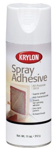 Krylon K07010 11-Ounce All-Purpose Spray Adhesive , White
