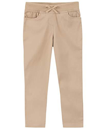Chaps Girls' Toddler School Uniform Twill Pull-On Skinny Pants, Khaki, 3T