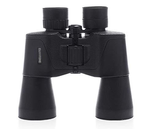 MJJT Telescopio-10X50 Binoculares Todo Incluido Binoculares de Alta definición visibles con Micro-luz Telescopio portátil, Negro