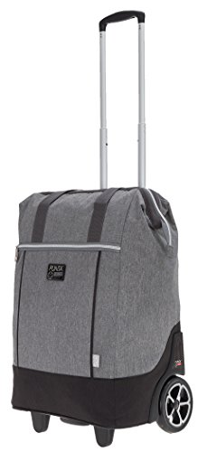 Punta Big Wheel Einkaufsroller Trolley Einkaufstrolley Trolly 10303 + Thermo Tasche (Two Tone GRAU (2800))