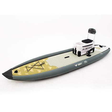 Prancha Stand up inflável Drift Aqua Marina - Com Bomba, Bolsa, Raquete, Leash de segurança, Nadadeira e Suporte