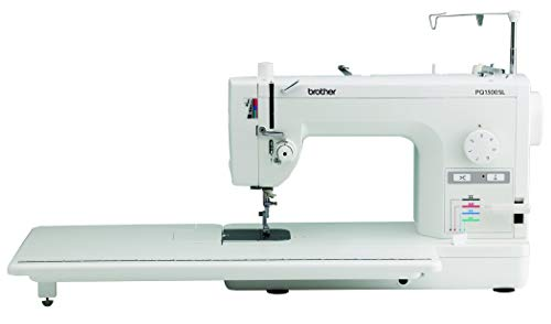 Brother Quilting and Sewing Machine, PQ1500SL, High-Speed Quilting and Sewing, 1500 Stitches Per Minute, Automatic Needle Threader, Retractable Drop Feed Dog Control (Renewed)