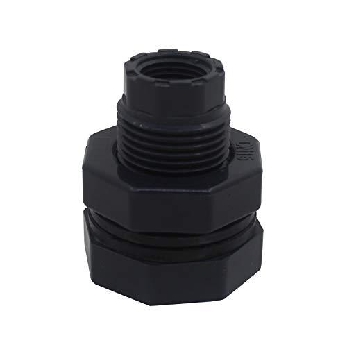 Pasamuros u pvc para tubo 20 25 32 40 50 63 75 90 110mm adaptador conector racor salida deposito agua roscado manguitos (1 inch rosca DN25 - OD32mm)
