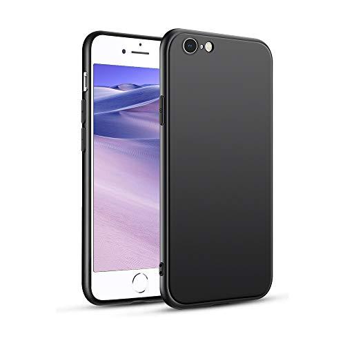 Cover Compatibile con iPhone 6/6s, Custodia con Paraurti Assorbimento degli Urti e Anti-Graffio Custodia Morbida in Silicone Flessibile Case per iPhone 6/6s - Nero