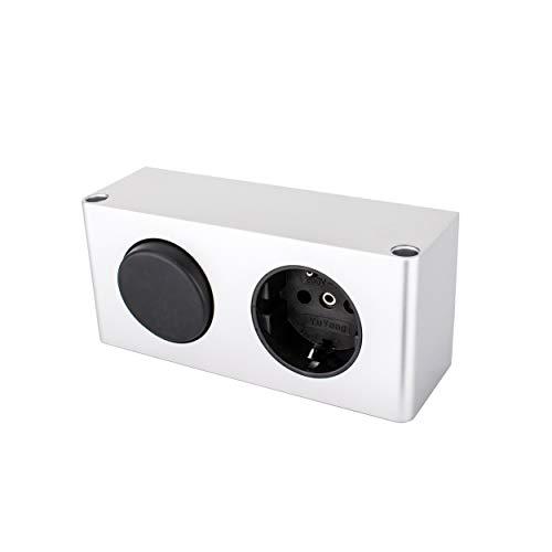 Yu Yang Steckdosen-Box 11 mit Schalter TÜV geprüft Energiebox Steckdose (60W Spiegelschrank Kombi-Box für dem Möbeleinbau, 230v auf 12v Halogen, DE)