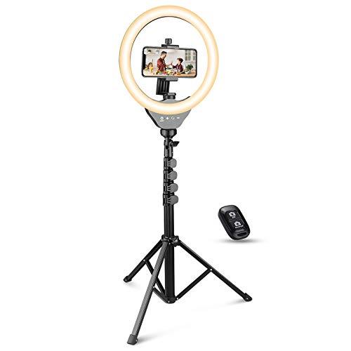 UBeesize 10'' Ring Light with Tripod, Selfie Ring Light with 62'' Tripod Stand, Light Ring for...
