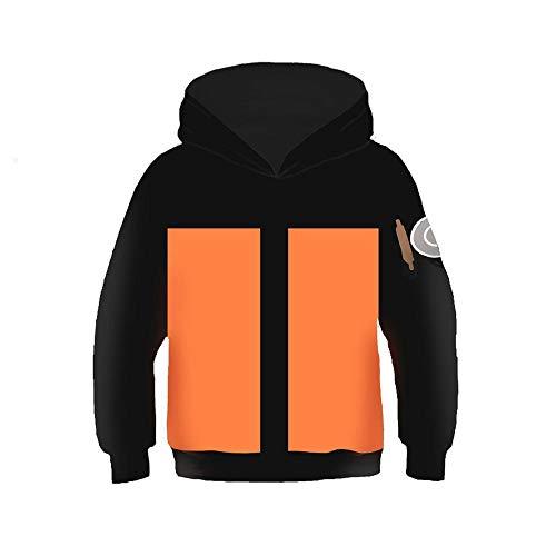 KIDSHOODIE Kinder Hoodie 3D-Druck Naruto Kakashi Pullover Herbst Jacke Kid-Jungen-Mädchen-Kleidung Baseball Tragen Mantel Mit Kapuze D-125cm-145cm[M]