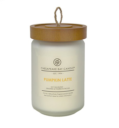 Chesapeake Bay Candle Scented Candle, Pumpkin Latte, Large Jar