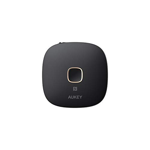 AUKEY Bluetooth Receiver V4.1 NFC-Enabled Wireless Audio Music Adapter with Hands-Free Calling for Home and Car Audio System