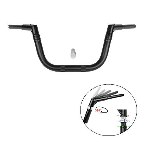 XMT-MOTO Universal Adjustable 8' Mini Ape Hanger 1-1/4' Diameter Handlebars,Matte Black