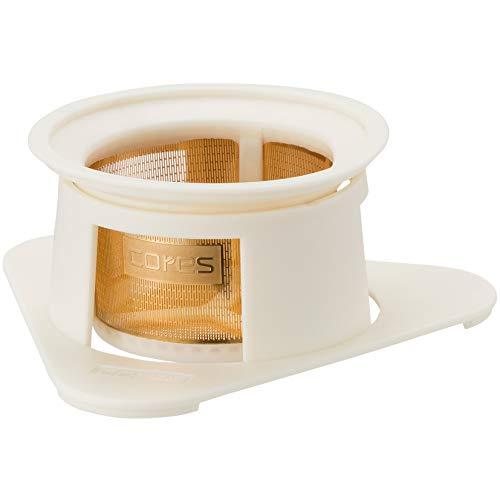 コレス コーヒー ドリッパー 丸山珈琲 共同開発 ゴールドフィルター ホワイト 1杯用 ペーパーフィルター不要 C210WH