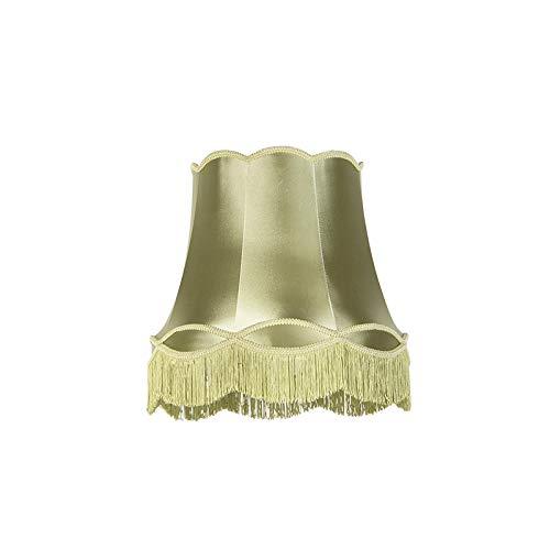 QAZQA Retro Seide Seidenlampenschirm grün 45 cm - Granny, Rund konisch Schirm Pendelleuchte,Schirm Stehleuchte