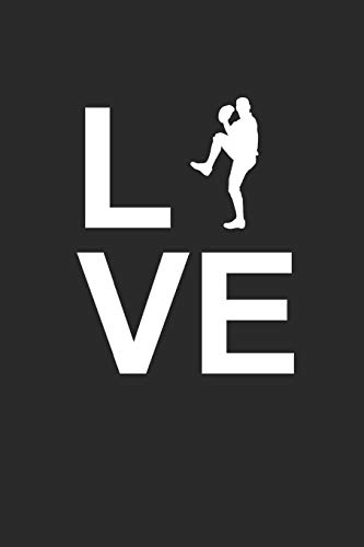 LOVE: Notebook Baseballspieler Notizbuch Baseball Journal 6x9 Punkteraster