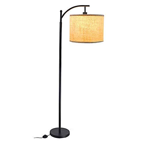Easttime up Eisen LED Stehlampe 3000K warm weiß vertikale Leselampe, LED-Augenschutz Wohnzimmer, Schlafzimmer, Bett, Büro, Arbeitszimmer, mit E26 Glühbirne