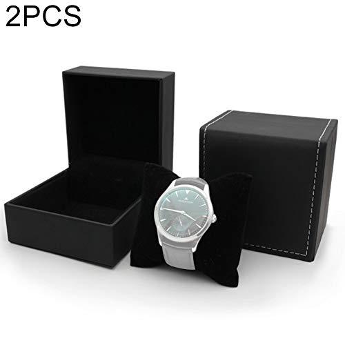 NoBrand 2 PCS PU Montre-Bracelet Boîte De Rangement Housse De Protection, S,ZhongsFa