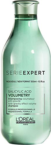 L'Oréal Professionnel Serie Expert Volumetry Shampoo, Volumen-Shampoo für volles Haar, Pflegeshampoo mit Salicylsäure, für feines Haar, 300 ml
