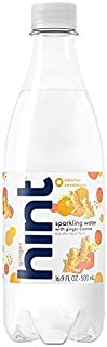 Hint Sparkling Water Ginger, (Pack of 12) 16.9 Ounce Bottles, Unsweetened Ginger-Infused Sparkling Water, Zero Sugar, Zero Calories, Zero Sweeteners, Zero Artificial Flavors