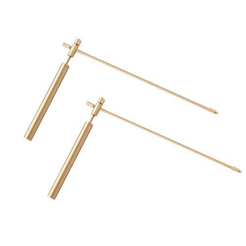 Varilla de radiestesia de metal, detector ajustable Herramienta desmontable para exteriores Varilla...