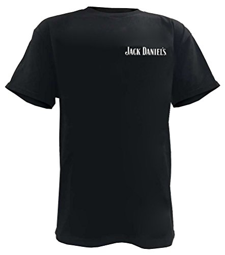 Jack Daniels JD Black Label 33261456JD-89 - Camiseta de manga corta para hombre, color negro - Negro - Large