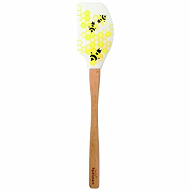Tovolo Spatulart Honeycomb Bee Spatula, Long-Lasting Color, Dishwasher Safe, Heat-Resistant 600ᴼF