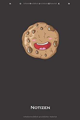 Cookie der leckere Keks Notizbuch: Kariertes Notizbuch für Naschkatzen und Keksliebhaber