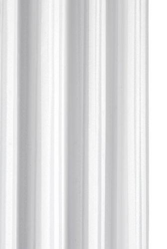 Croydex Regency Stripe, Textil-Duschvorhang, hakenlos, Weiß