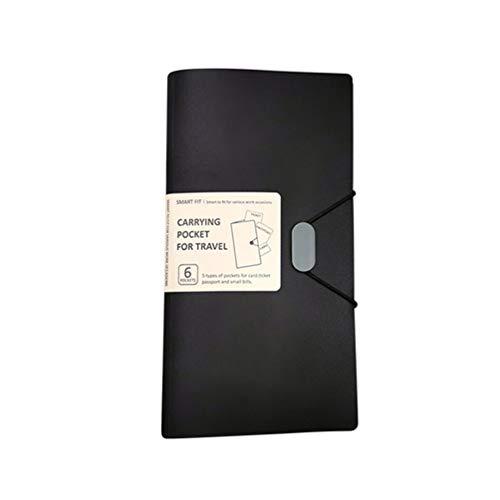 STOBOK Passport Holder Case B6 Document File Folder Ticket Card Organizer Bag for Travel Office