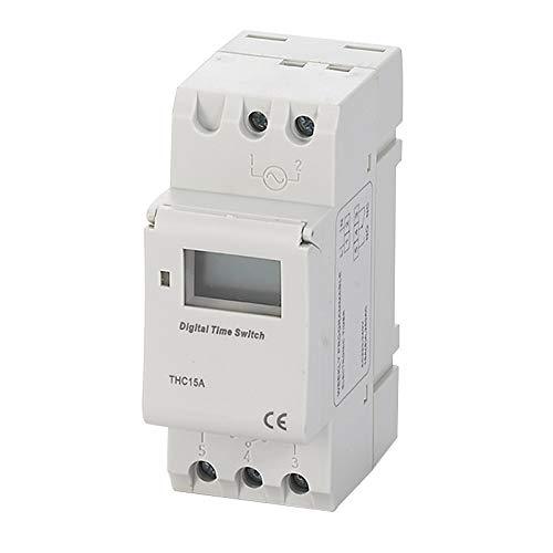 DANQI Interruptor Eléctrico Programable Thc15a 220V 16A Digital Lcd Power Temporizador Programable