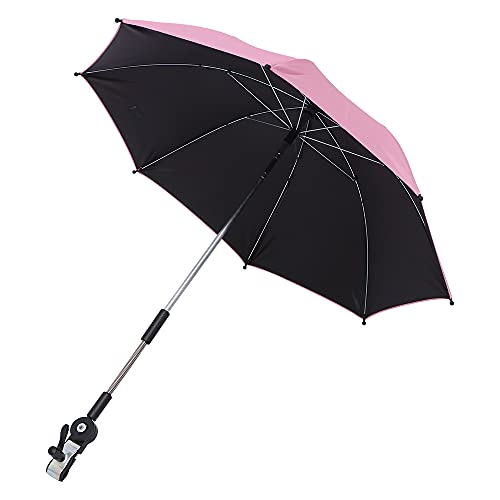 Salangae Sombrilla Universal Carrito de Bebé para Soporte de Cochecito con Soporte Ajustable de 360 Grados Protección Solar Sombrilla de Bebé Paraguas para Al Aire Libre Soleado O Días de Lluvia