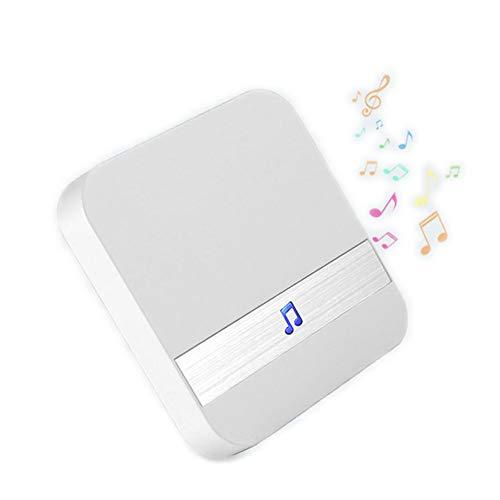 Sumeber ワイヤレスチャイム 呼び出しチャイムセット 呼び鈴玄関 ドアベル 防水 LEDライト 300Mの無線範囲 配線不要 36メロディー選択可 4段階の音量調整可能 家庭 オフィス 送信機含まれない(配合可視呼び鈴を使用)