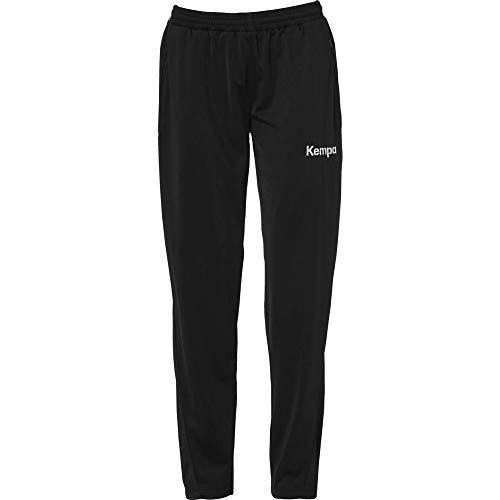 KEMPA - CORE 2.0 POLY PANT WOMEN - Pantalon Handball - Poches latérales zippées - Cordon de serrage - noir/gris foncé chiné