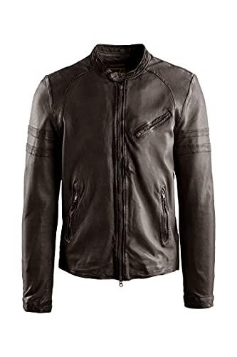 BOMBOOGIE JM Peer P SVM2 14 - Chaqueta de piel para hombre, color marrón oscuro, talla L